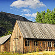 Ghost Town Barn And Stable Poster