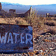 Ghost Town - No Water Poster by Maria Arango Diener