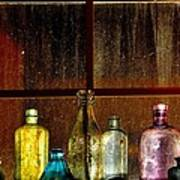 Ghostly Bottles Poster