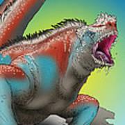 Giant Marine Iguana Poster