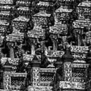 Giant Statues In Wat Arun Poster
