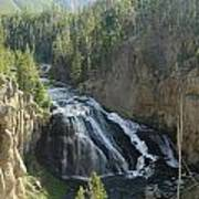 Gibbon River And Falls Poster