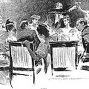 Gibson: Dinner Party, 1894 Poster