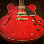 Gibson Es-335 Electric Guitar Body Poster
