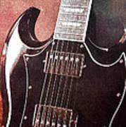 Gibson Sg Standard Red Grunge Poster