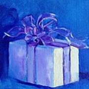 Gift In Blue Poster