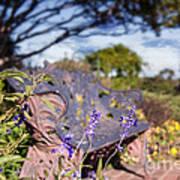 Gilcrease House Garden Flower Poster