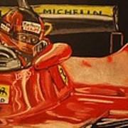 Gilles Villeneuve At Monaco 1980 Poster