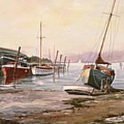 Gillingham Pier On The Medway Poster