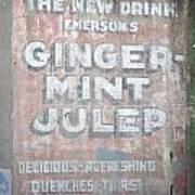 Ginger-mint Julep Poster