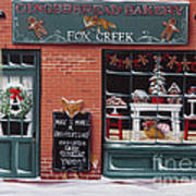 Gingerbread Bakery At Fox Creek Poster