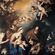 Giordano Luca, Holy Family Venerated Poster by Everett