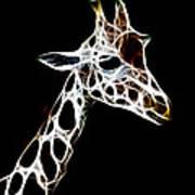 Giraffe Art Poster