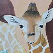Giraffe Baby Poster