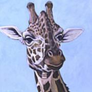 Giraffe Eye To Eye Poster