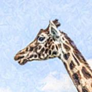 Giraffe Portrait Poster