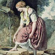 Girl At A Conduit Poster