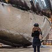 Girl At Cloud Gate Poster