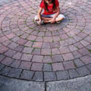 Girl In Circle Poster