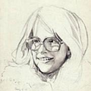 Girl In Glasses Poster