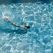 Girl In Pool Poster
