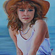 Girl In The Straw Hat Poster