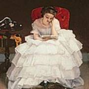 Girl Reading Poster by Alfred Emile Stevens