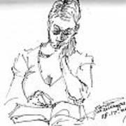 Girl Reading Poster