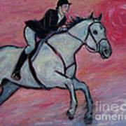 Girl Riding Her Horse I Poster