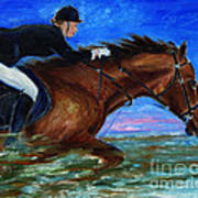 Girl Riding Her Horse II Poster