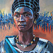 Girl South Sudan Poster