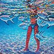 Girl With Silver Barbs Poster by Joseph   Ruff