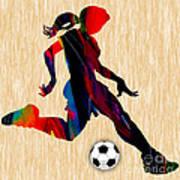Girls Soccer Poster