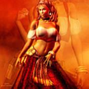 Gitana Poster by Carol Cavalaris