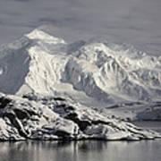 Glaciated Peaks Anvers Isl Antarctica Poster