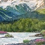 Glacier Creek Summer Evening Poster