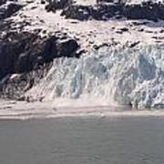 Glacier Falling Into Bay Poster
