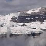 Victoria Glacier Mist - Lake Louise, Alberta Poster
