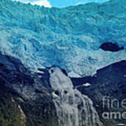 Glacier Waterfall Poster
