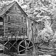 Glade Creek Crist Mill Poster