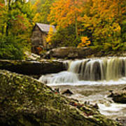 Glade Creek Grist Mill Poster by Shane Holsclaw