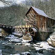 Glade Creek Grist Mill In West Virginia Poster