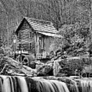 Glade Creek In Black And White Poster