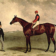 Gladiateur With Harry Grimshaw Up And His Owner Count Frederic De Lagrange Poster by Harry Hall