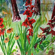 Gladioli-2 Poster by Vladimir Kezerashvili