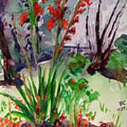 Gladioli-4 Poster by Vladimir Kezerashvili