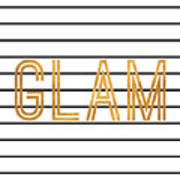 Glam Pinstripe Gold Poster