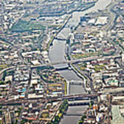 Glasgow Aerial Poster