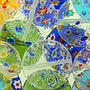 Glass Beads Abstract Poster