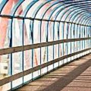 Glass Covered Walkway Poster